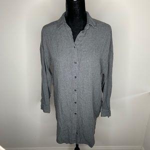 Zara Gray Button Down Shirt Dress size Small